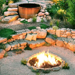 Fire pit heaven.
