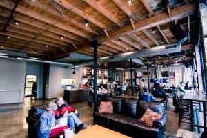 Interior of Foolish Things Coffee in Tulsa, OK.