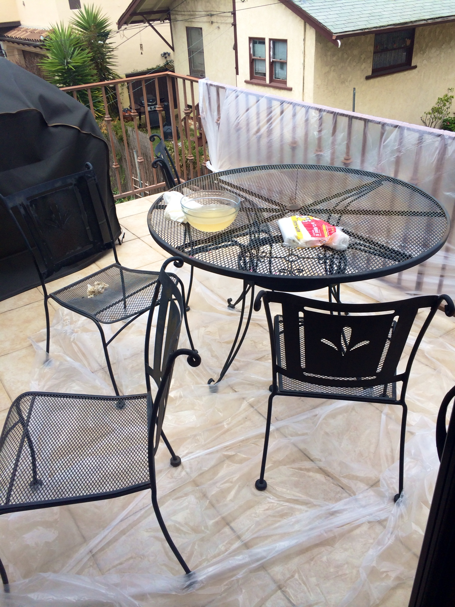 DIY Spray Painted Patio Furniture