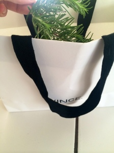 Obviously my rosemary was bougie so it got dried in a Vince bag. LOL.
