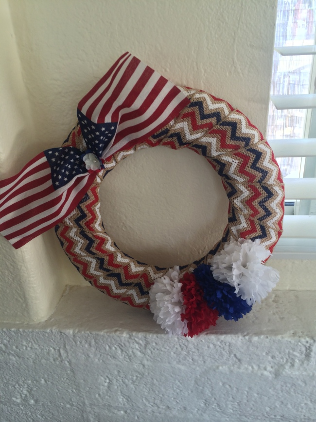 I made the bow on the top with this one by pinning two flags together.