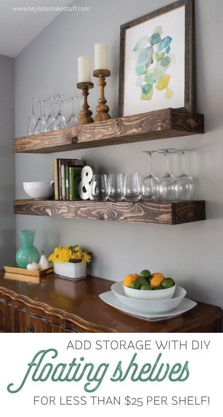Some open shelving could be fun to add some dimension to the room.