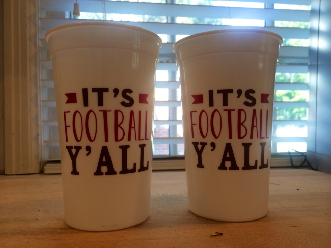 I couldn't say no to these cups...anyone living in Tulsa they are from On a Whim!